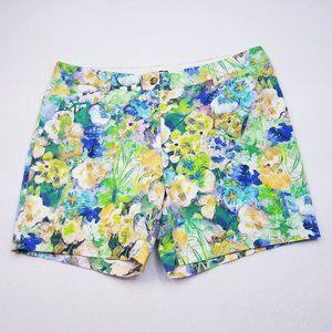 Lands' End Floral Print Shorts - Size 18 - VGC
